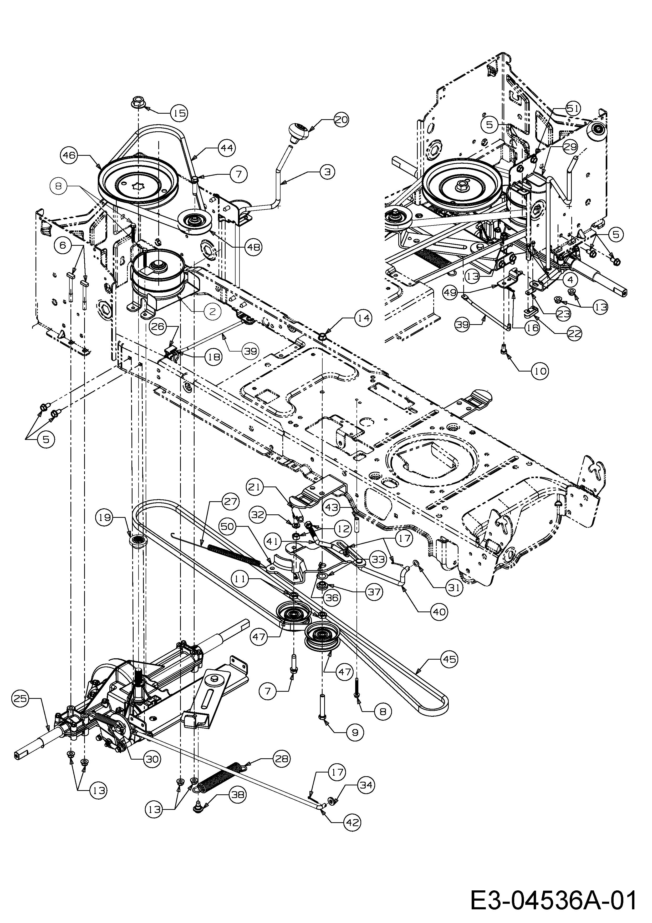 Keilriemen Fahrantrieb am Getriebe passend Gutbrod ELX 96 SA 13AV90GF690